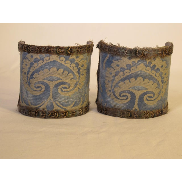 Fortuny Fortuny Sconce Shades - a Pair For Sale - Image 4 of 4