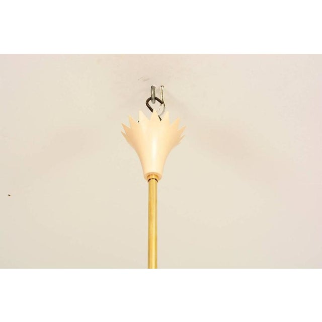 1950s Brass Leaves Italian Chandelier For Sale - Image 5 of 6