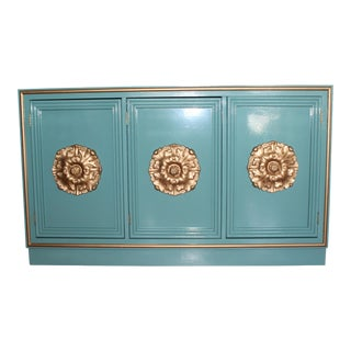 Hollywood Regency Lacquered Credenza or Sideboard For Sale
