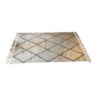 Hand-Knotted Wool Rug - 5′ × 8′ For Sale