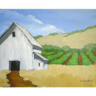 Salinas Barn California Farmland Garden Fields Landscape Painting Lynne French For Sale