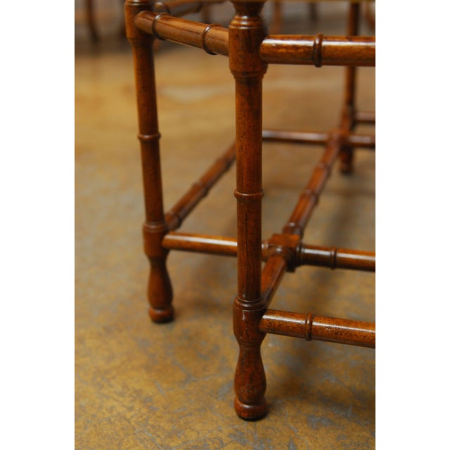 Baker Bamboo and Brass Tray Top Coffee Table - Image 8 of 10