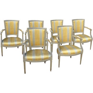Six French Armchairs For Sale