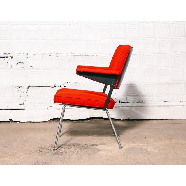 Industrial 1268 Low Arm Chair by Cordemeijer for Gispen For Sale - Image 3 of 10