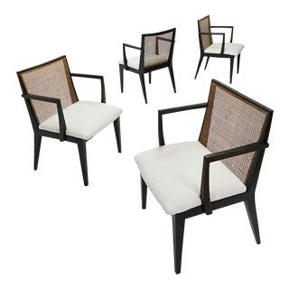 1959 Edward Wormley for Dunbar Mid-Century Modern Oak Armchairs - Set of 4 For Sale