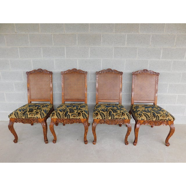 Lineage Furnishing Louis XV Style Dining Side Chairs - Set of 4 For Sale - Image 12 of 12
