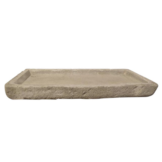Italian Carved Stone Drain Board - Image 1 of 4