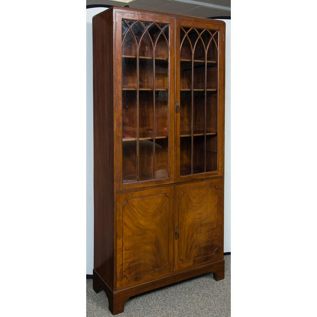 Brown English Mahogany Display Cabinet For Sale - Image 8 of 10