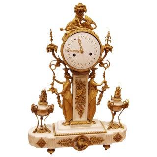 Period Louis XVI Bronze Dore Clock