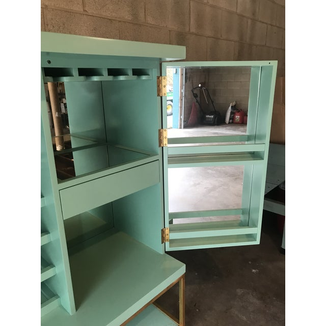 2010s Mid Century Modern Lacquered Storage Cabinet For Sale - Image 5 of 13