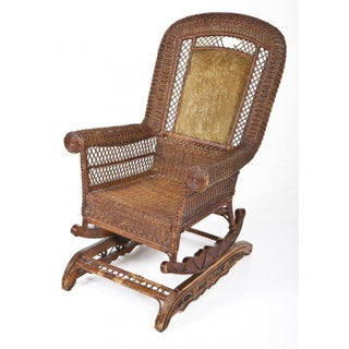 Late-Victorian Platform Wicker Rocking Chair Preview