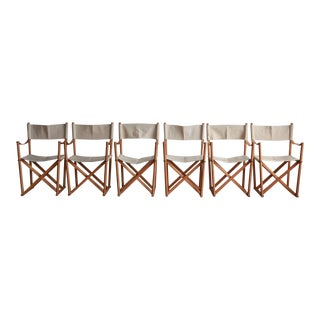Vintage Mid Century Mogens Koch for Rasmusse Folding Chairs- Set of 6 For Sale