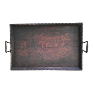Antique Wooden Serving Tray For Sale