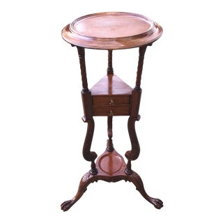 English Chippendale Style Shaving Stand For Sale