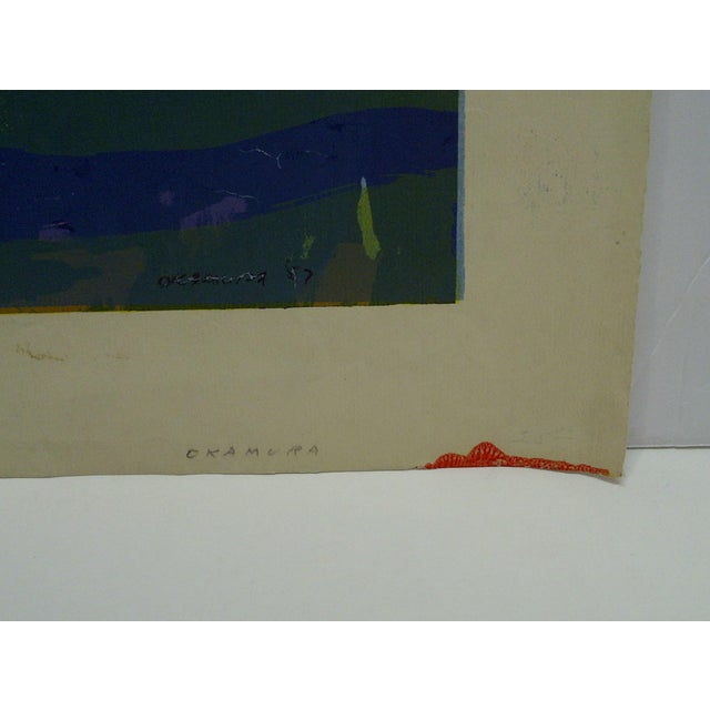 """Late 20th Century Limited Edition -- Signed Numbered (X) Print -- Titled """"Gold Fish"""" -- by Okamura For Sale - Image 5 of 6"""