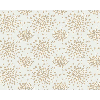 Hinson for the House of Scalamandre Fireworks Wallpaper in Beige on White For Sale