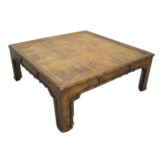 Parson Burl Faux Bamboo Coffee Table