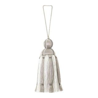 Dana Gibson Grey & White Tassel For Sale