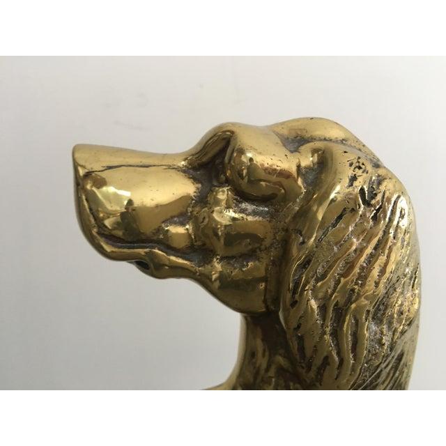 Vintage Mid-Century Harvin Brass Dog Doorstop For Sale - Image 4 of 6
