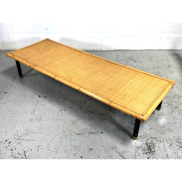 Mid Century Modern Ficks Reed Bamboo / Rattan Benches For Sale - Image 10 of 13