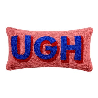 Ugh Hooked Wool Pillow For Sale