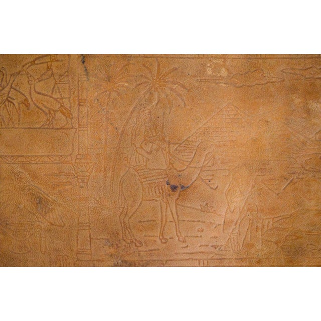 Gold Vintage Egyptian Camel Saddle Stool For Sale - Image 8 of 13