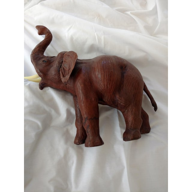 Vintage African Leather Elephant For Sale - Image 4 of 10