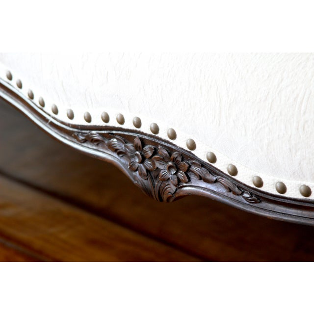 Wood 19th Century Victorian Canapé Settee For Sale - Image 7 of 9