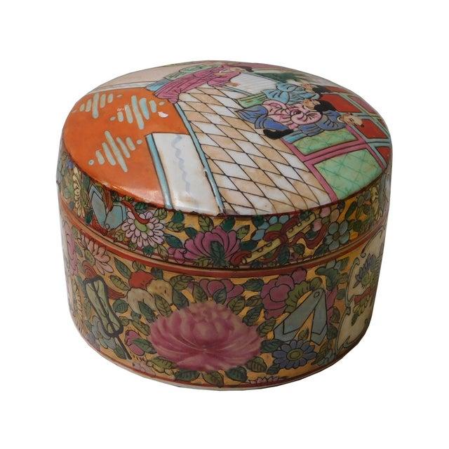 Oriental Porcelain Scenery Box - Image 2 of 6