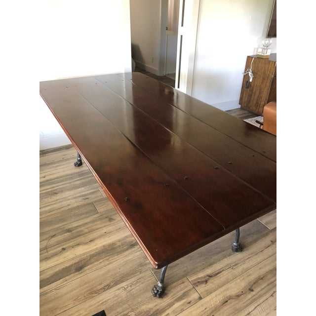 Metal Farmhouse Theodore Alexander Dining Table For Sale - Image 7 of 13