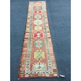 """1960s Vintage Turkish Oushak Rug-2'9'x13'4"""" Preview"""