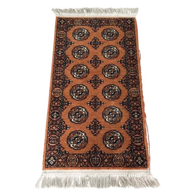 """Orange Karastan Wool Rug - 2'2"""" x 4'8"""" - Image 1 of 6"""