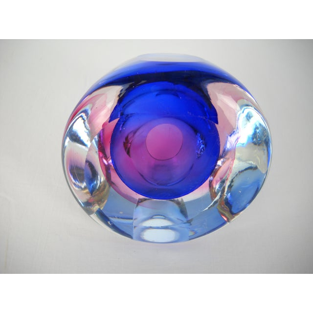 Flavio Poli Faceted Murano Glass Vase For Sale - Image 9 of 10