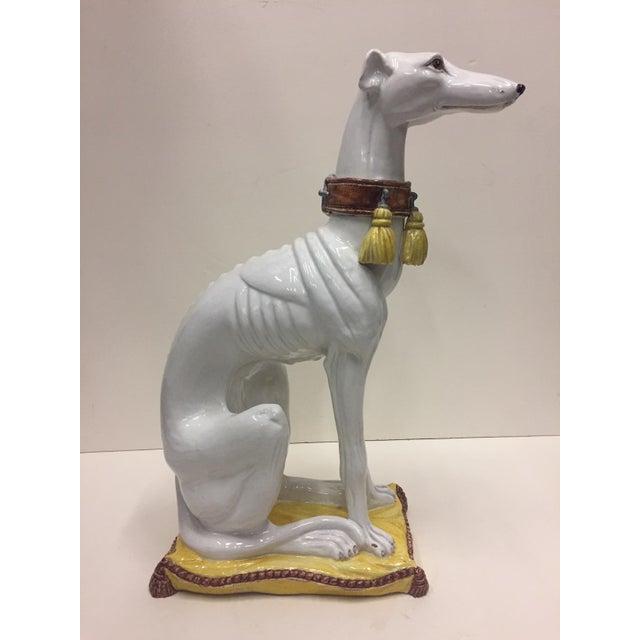 Glazed Terracotta Greyhound Sculpture For Sale In Philadelphia - Image 6 of 13