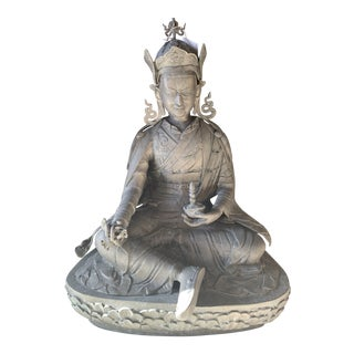 1970s Vintage Bronze Buddha Statue For Sale
