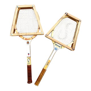 1960s Wood Tennis Rackets - a Pair For Sale