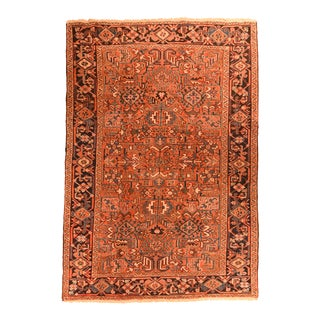 Hand Knotted Persian Heriz Wool Rug For Sale