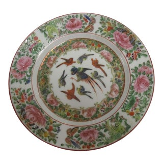 1820s Chinese Export Famille Rose Plate For Sale