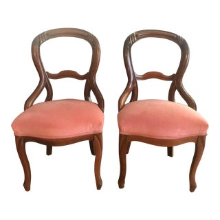 Mahogany Balloon Chairs - a Pair For Sale