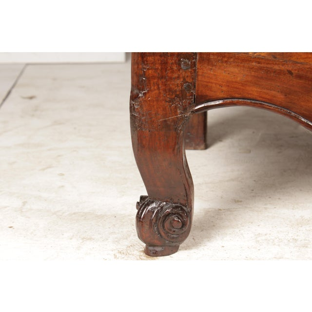 Brown Antique Louis XV-Style Credenza For Sale - Image 8 of 9