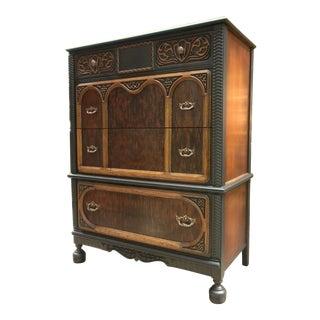 1900's English Jacobean Highboy Dresser For Sale