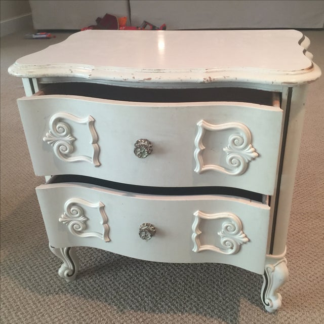 Ivory 2-Drawer Bedside Table - Image 6 of 8