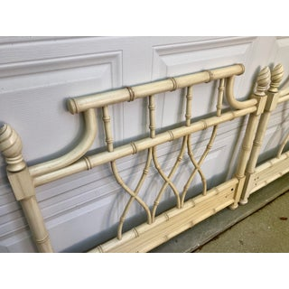 Faux Bamboo Chippendale Pagoda Twin Headboards- a Pair Preview
