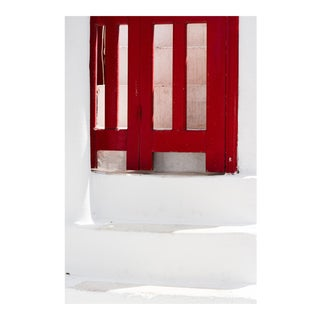"Contemporary Large Photo Pigment Print, ""Red Gate"" by Nicole Cohen For Sale"