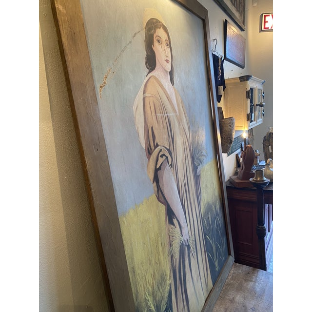 1950s Antique Ruth Harvest Painting For Sale - Image 9 of 13