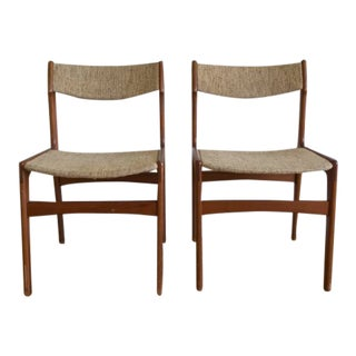 Vintage Mid Century Erik Buch Style Chairs- a Pair For Sale