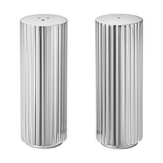 Georg Jensen Art Deco Stainless Steel Bernadotte Salt & Pepper Shakers For Sale