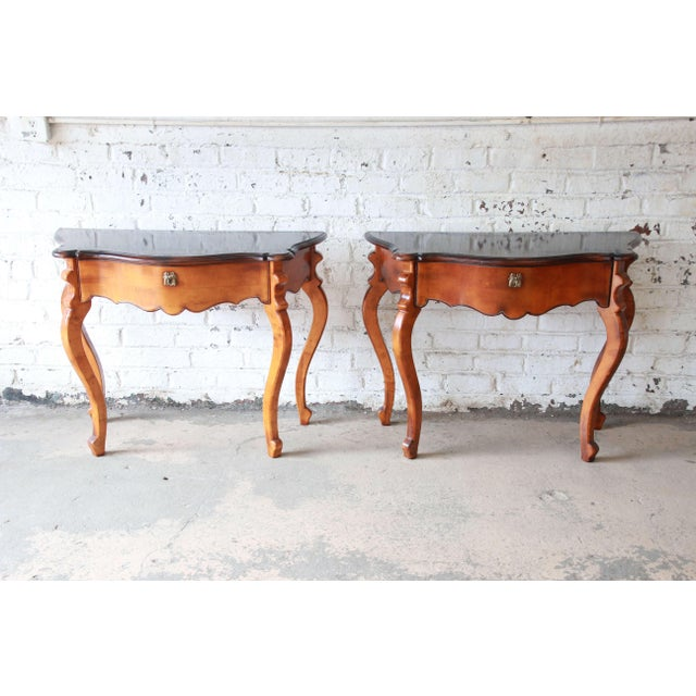 2000 - 2009 Baker Furniture Milling Road French Console Tables For Sale - Image 5 of 13