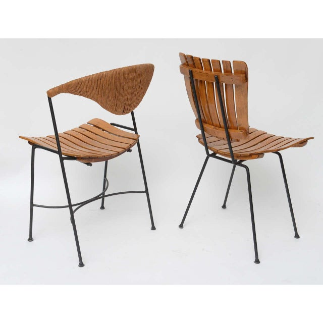 1950s Set of Four Arthur Umanoff Dining Chairs for Raymor For Sale - Image 5 of 10