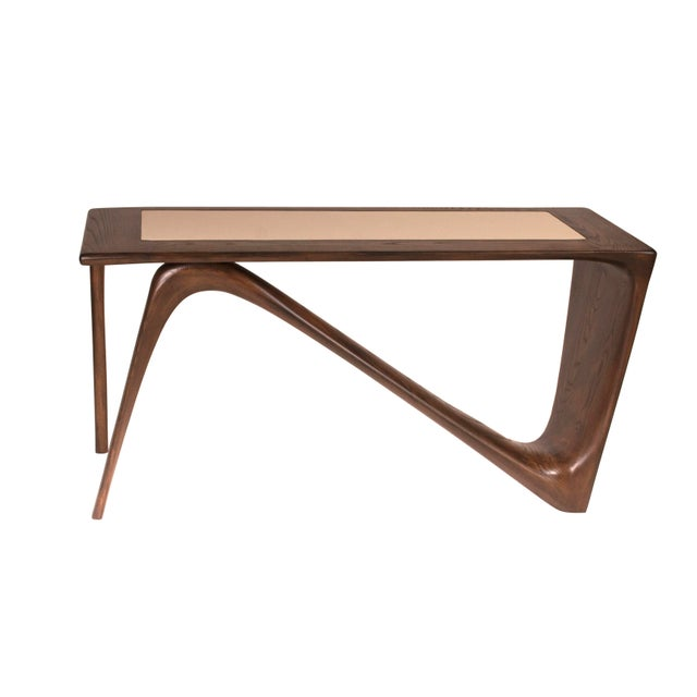 Not Yet Made - Made To Order Amorph Astra Desk, Rectangular Shape, Graphite Walnut Finish For Sale - Image 5 of 9